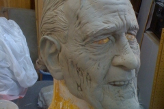 Zombie President George H.W. Bush mask sculpture