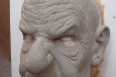 Grumpy Old Man Mask 3/4 view
